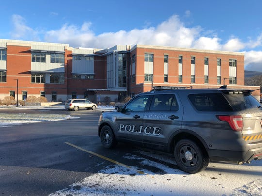 A Bennington police cruiser, seen here on Dec. 9, 2018 in front of the Bennington town offices and criminal court