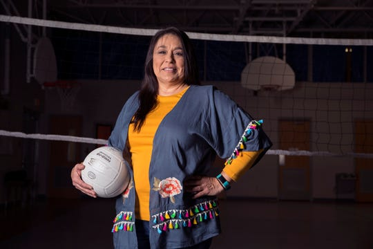 The Caller-Times All-South Texas Volleyball Coach of the Year is Selina (Sally) Hemphill from Refugio High School.