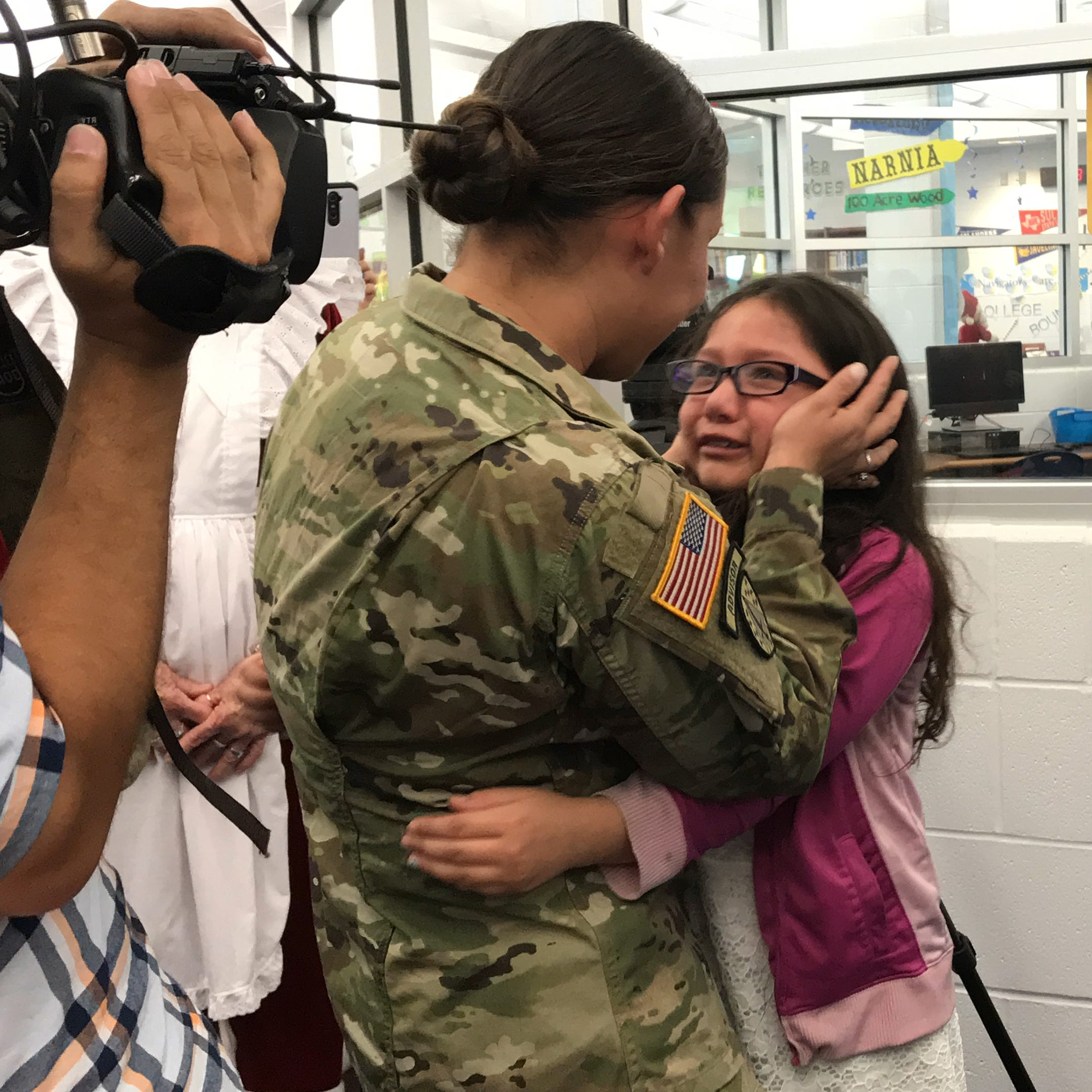 How a Corpus Christi military mom surprised her daughter at Garcia Elementary School