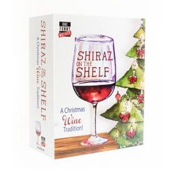 Shiraz on the Shelf is a parody 'Christmas wine tradition' inspired by Elf on the Shelf and tired moms everywhere and created by South Jersey's Dena Blizzard.