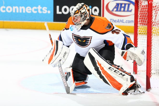 Carter Hart had his first pro shutout last weekend and has a .955 save percentage in his last three games.