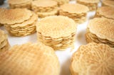 The Del Buono's Pizzelle Company in Bellmawr makes an average of 6,000 pizzelle a day.