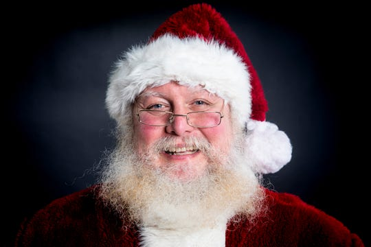 Santa Jim poses for a portrait in The Enquirer studio in Downtown Cincinnati Wednesday, December 12, 2018.