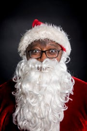 Santa Galen poses for a portrait in The Enquirer studio in Downtown Cincinnati Wednesday, December 12, 2018.