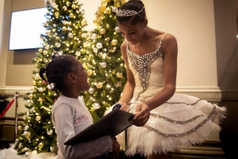 After reading about Martaisha Thomas' battle to survive after being shot in the head three years ago, the Cincinnati Ballet took to heart that Martaisha loves to dance with a gift of special ballet lessons, dance shoes and a leotard.