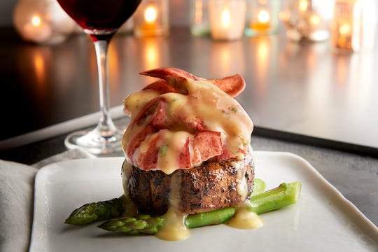 Steak and Lobster Oscar, on the Christmas menu at Morton's The Steakhouse