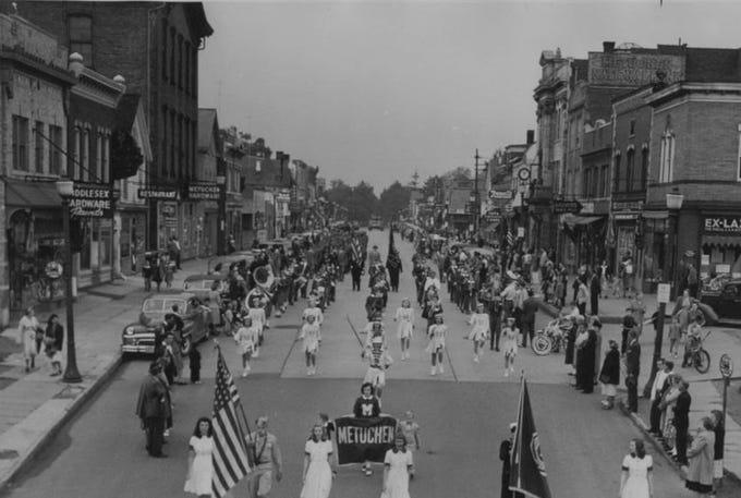Downtown Metuchen in 1940