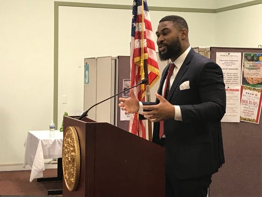 Chigozie Onyema, state assistant commissioner of the Department of Community Affairs spoke about homelessness on Thursday in New Brunswick.