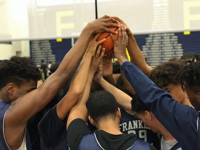 The Franklin boys basketball team.