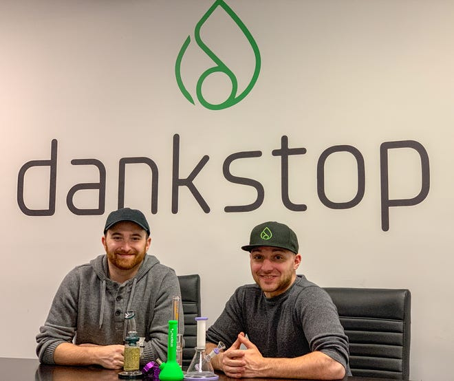 Co-founders Feliks Khaykin, CEO and CMO Louis Coniglio, at the DankStop company headquarters in Edison.