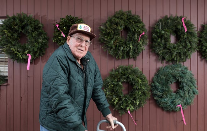 Kenneth Scheetz sold the first trees on his tree farm in 1962.