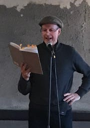 """Activist, former legislator Ed Fallon reads from his book, a memoir about the 2014 """"Great March for Climate Action."""""""