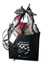 A gift bag of Al Dente pasta.