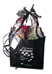 A gift bag of Al Dente pasta.