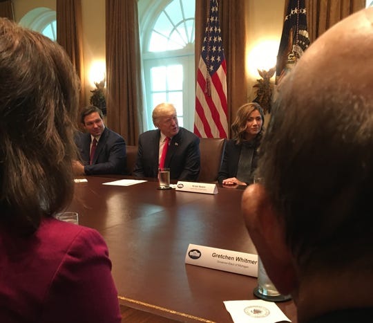 Michigan Gov.-elect Gretchen Whitmer met President Donald Trump at the White House in this file photo.