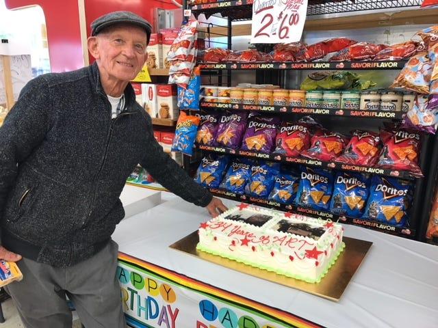 Art Hughes at the Dearborn Farm Market.