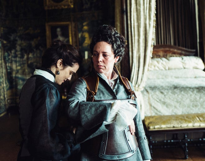 """Rachel Weisz, left, and Olivia Colman in """"The Favourite."""""""