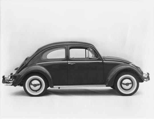 Volkswagen Beetle sales broke a previous manufacturing record set by the Ford Model T.