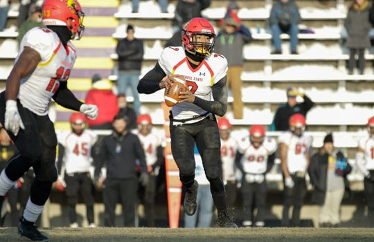 Ferris State quarterback Jayru Campbell has completed 60.6 percent of his passes for 2,832 yards and 26 touchdowns. He's also the team's leading rusher with 1,338 yards.
