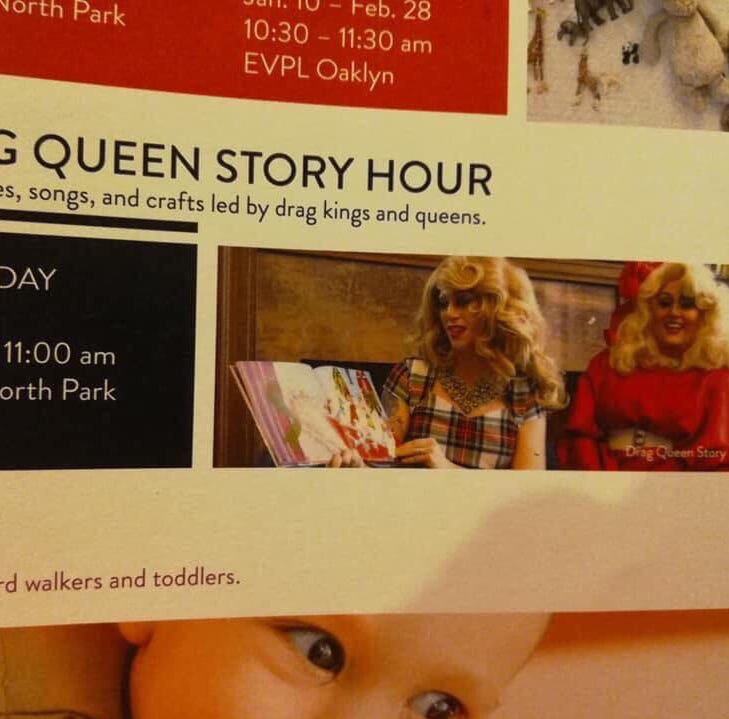 Evansville Vanderburgh Public Library presents: Drag Queen Story Hour