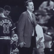 Jim Crews coached 17 seasons at Evansville from 1985-2002. He led the Aces to four NCAA tournaments and a pair of NIT appearances.