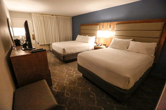 A renovated room Dec. 13, 2018 at the Holiday Inn hotel in Fond du Lac. The renovations come as the hotel changes to a Radisson.