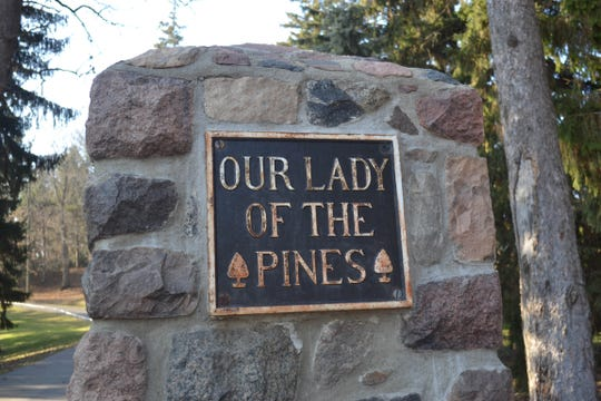 A vintage sign leads to Our Lady of the Pines, home of many Sisters of Mercy. The sisters are celebrating their 175th anniversary in the U.S. this year.