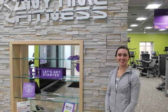Natasha Shaw is the manager of Anytime Fitness' new location at Eagle Crest Health Park in Bellevue. The Bellevue Hospital owns the Anytime Fitness franchise at the park, which opened Monday.