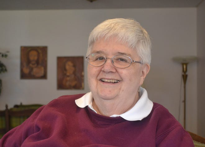 Like many Sisters of Mercy who are passionate about social justice issues, Sister Moira Kenny dedicated her life to social causes. When she retired from active ministry she moved back to her hometown of Fremont to live at St. Bernardine Home.