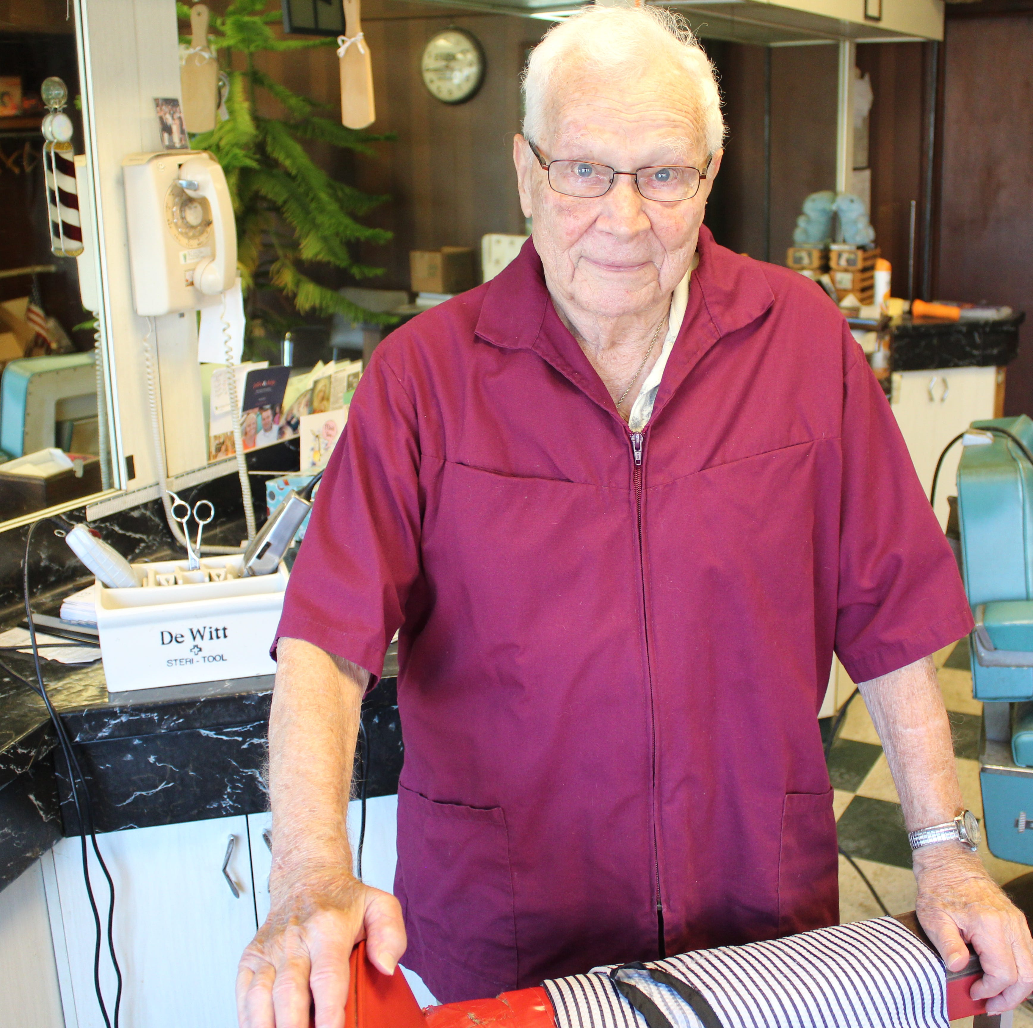 After 62 years, Cronin will put his barber scissors away