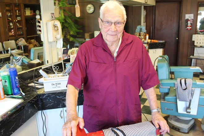 Bill Cronin, 92, of Fremont is retiring after 62 years as a barber in the city. Cronin owns Bill's Barber Shop at 507 W. State St.