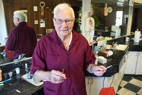 Bill Cronin, 92, started cutting hair in Fremont in 1956.