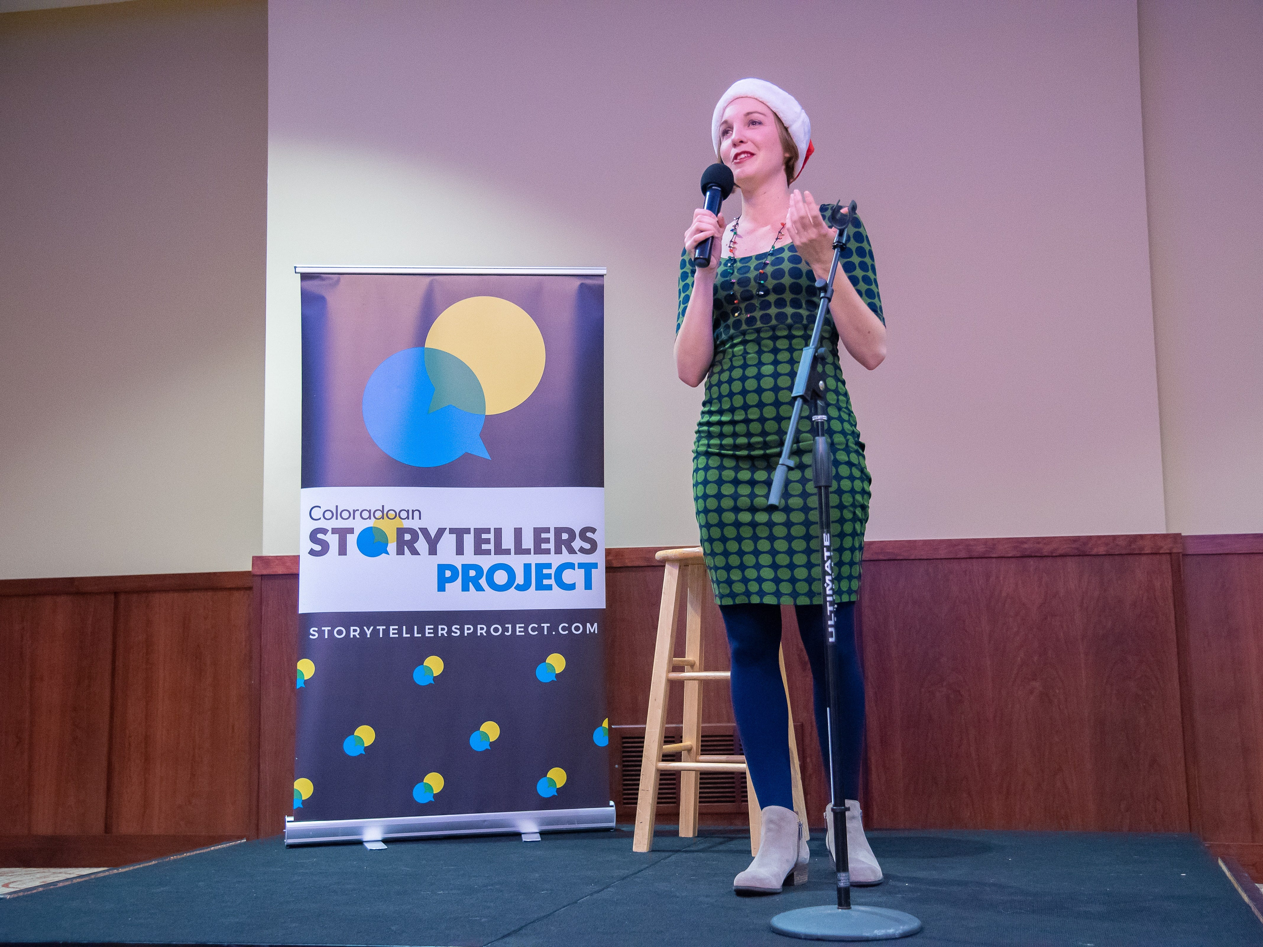 Storyteller Whitney Trotta speaks of her grandfather's life during the Coloradoan Storytellers Project at Lincoln Center on Tuesday, December 11, 2018.