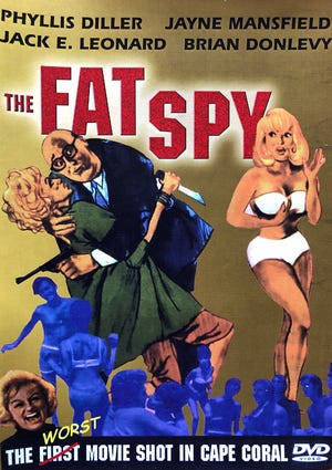 """The cover for a 2005 DVD of """"The Fat Spy"""""""