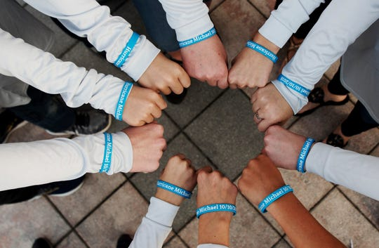 Some Southwest Florida students made bracelets and raised more thousands in funds to help those affected by Hurricane Michael in Mexico Beach. The group are part of the Kids Care Disaster Relief fund. A group of them went to Mexico Beach and handed the mayor of Mexico Beach with $9,321.00.