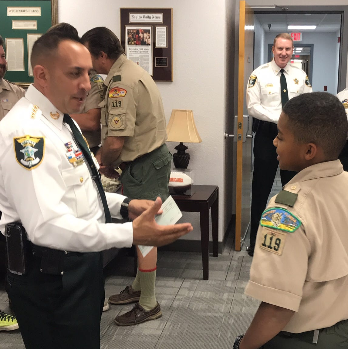 Lee sheriff, Price Foundation pitch in to help Boy Scout troop with summer camp outing