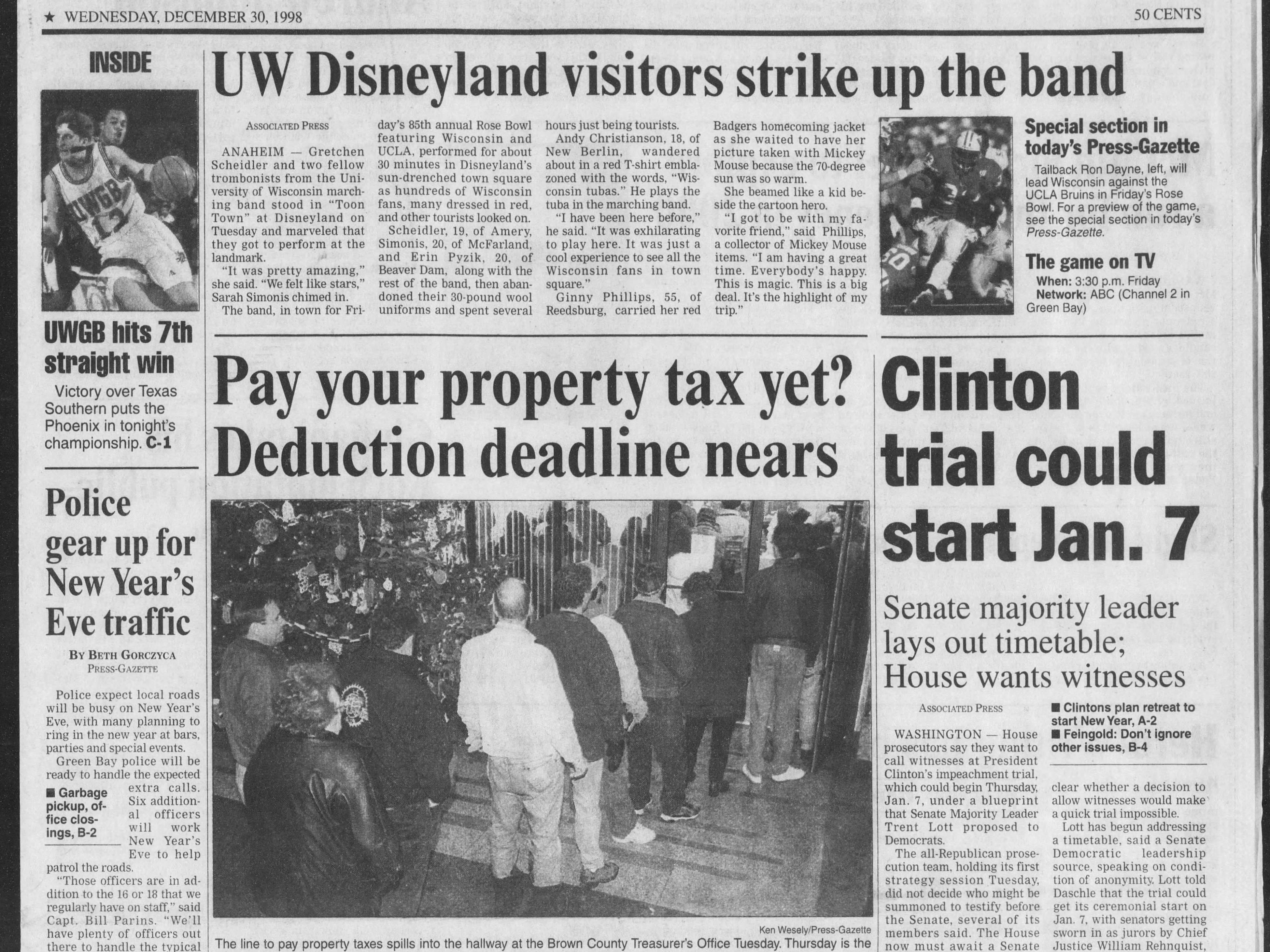 Today in History: Dec. 30, 1998