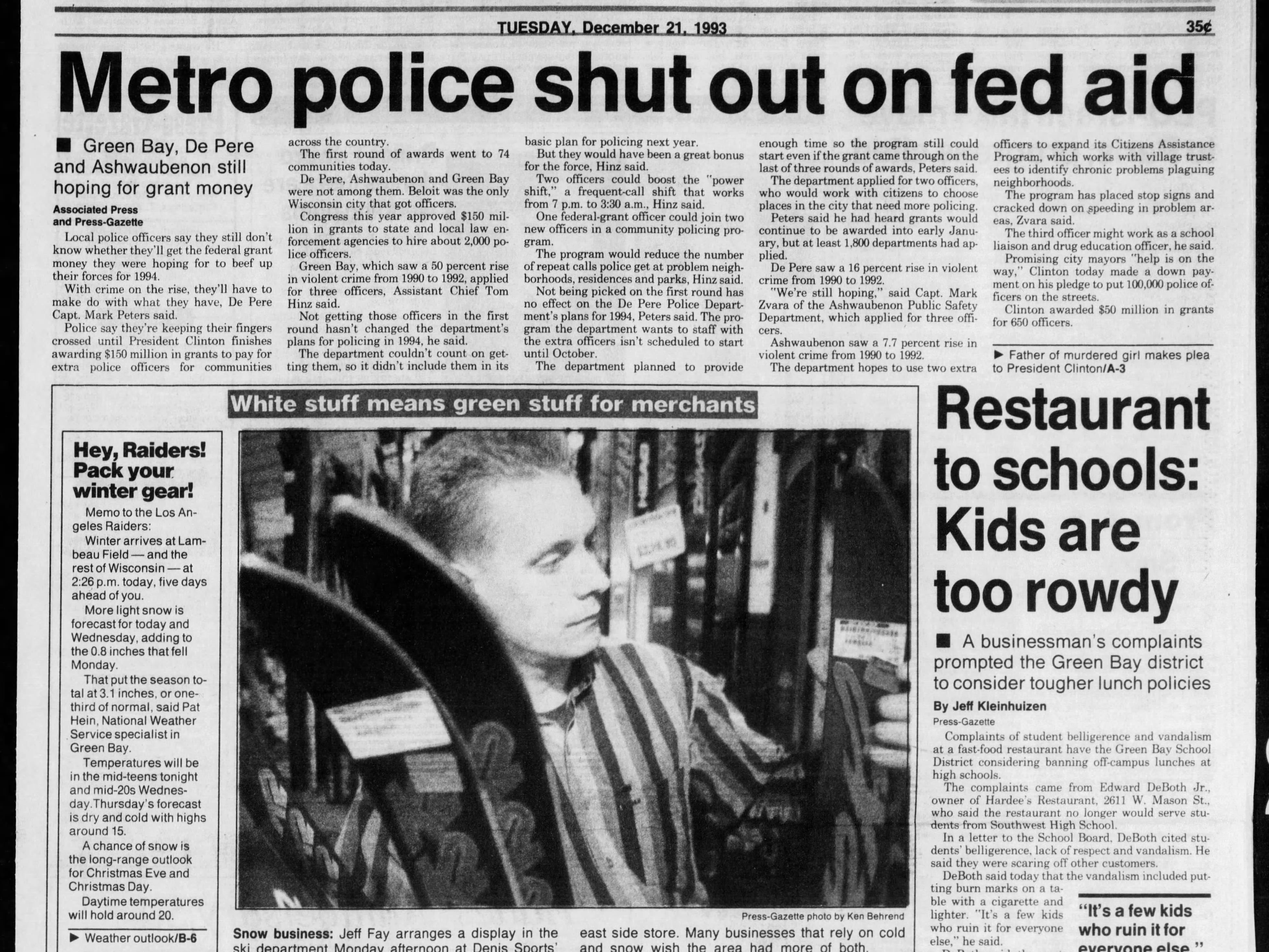 Today in History: Dec. 21, 1993