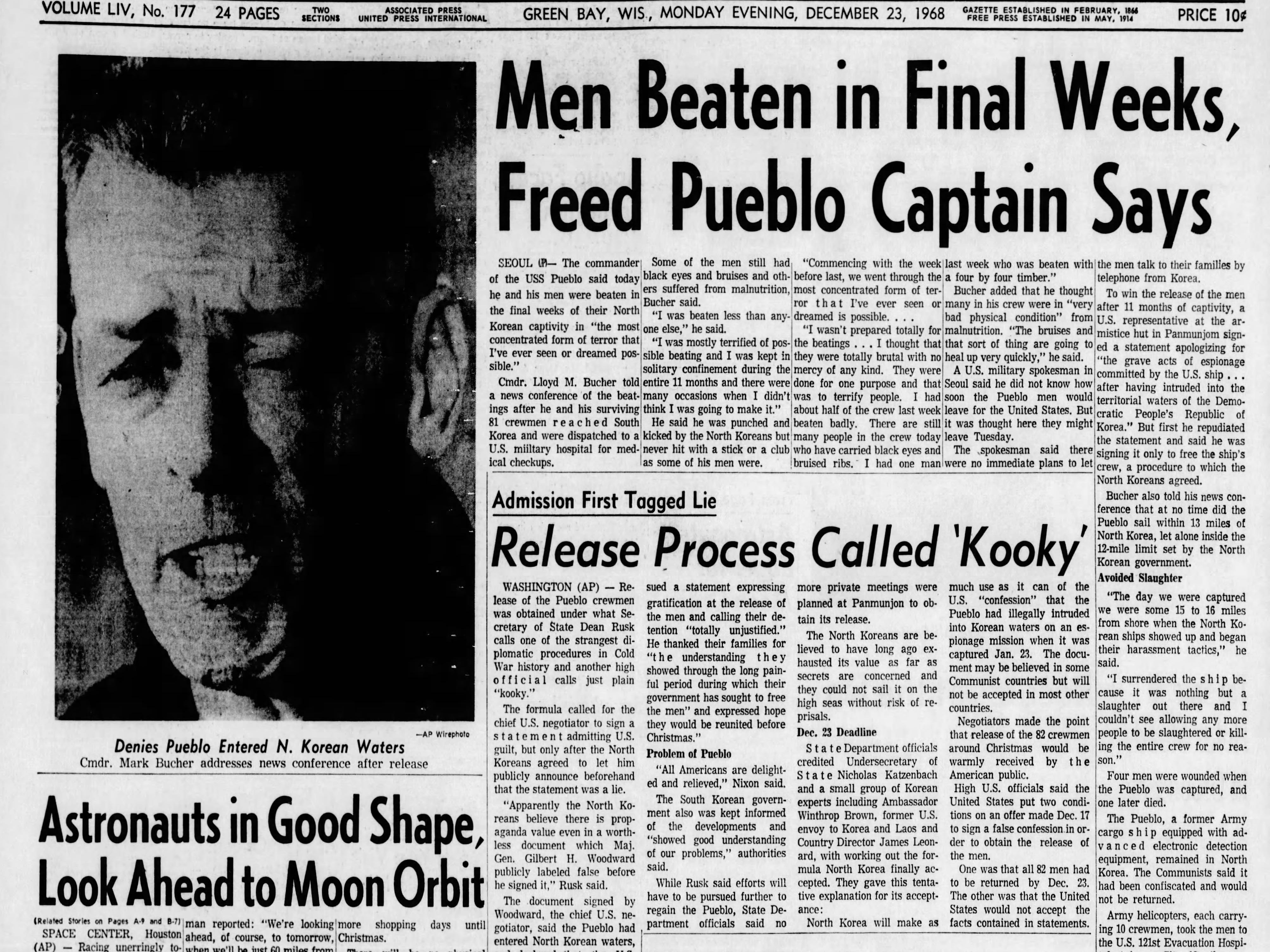 Today in History: Dec. 23, 1968
