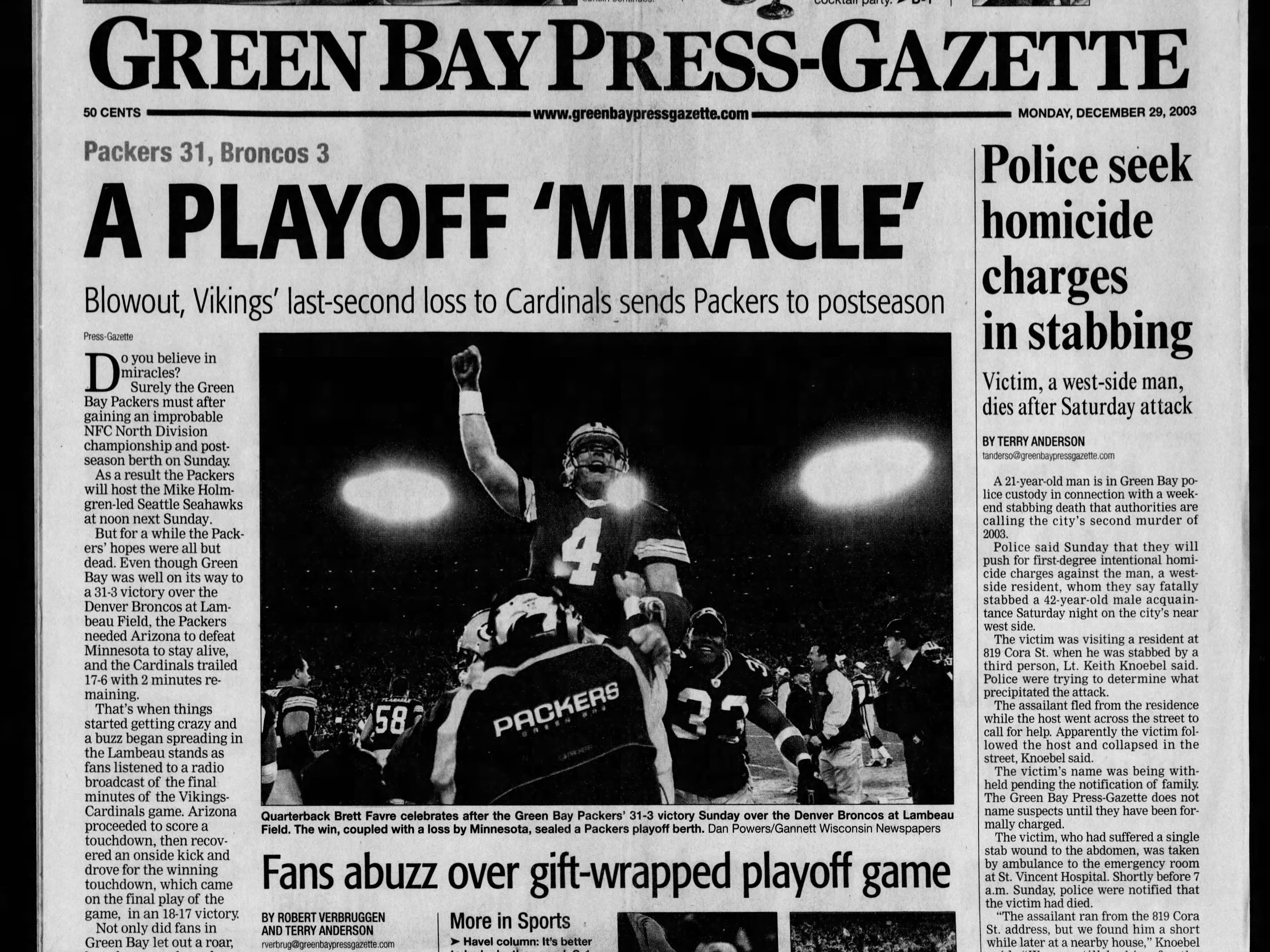 Today in History: Dec. 29, 2003