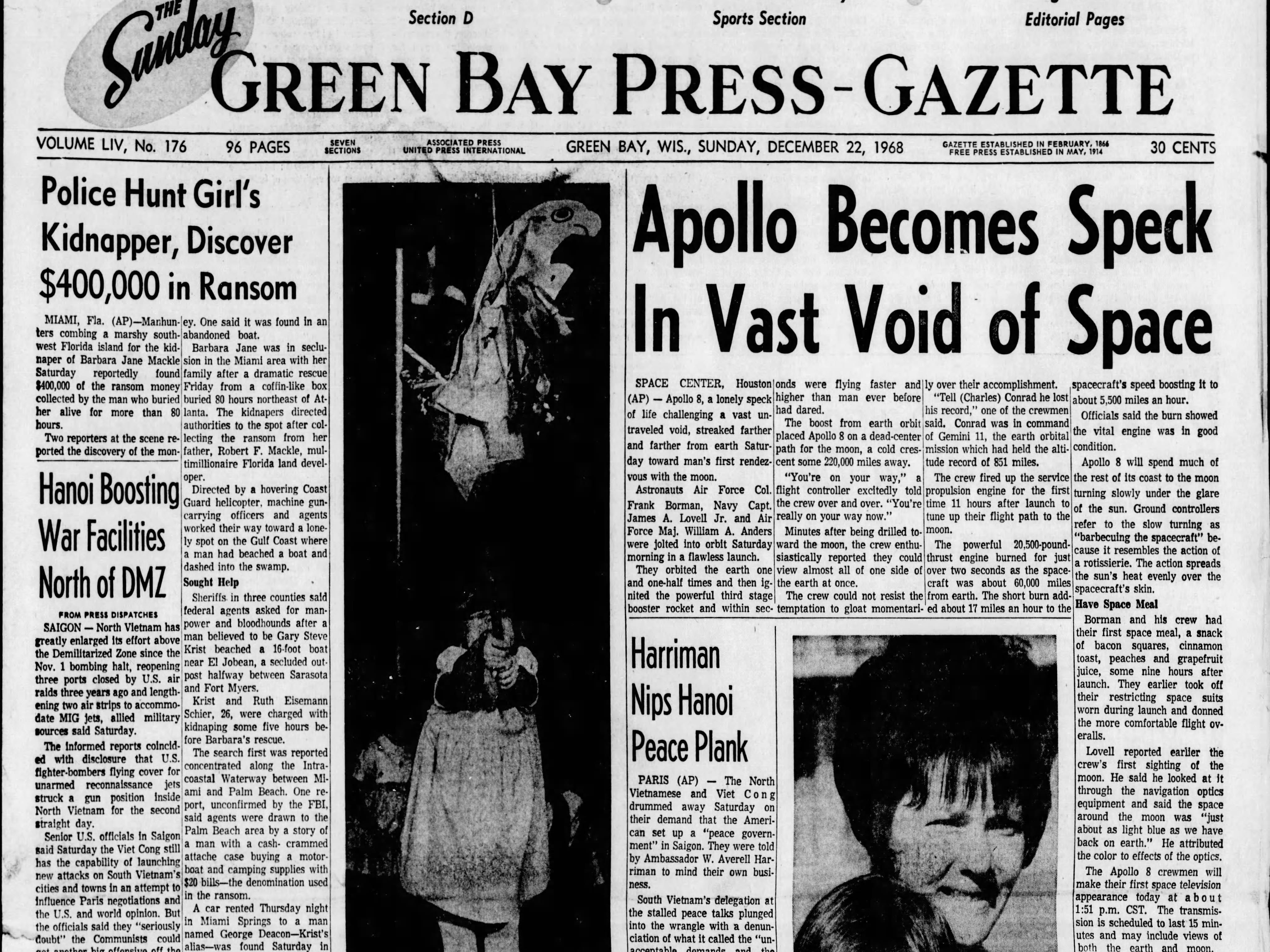 Today in History: Dec. 22, 1968