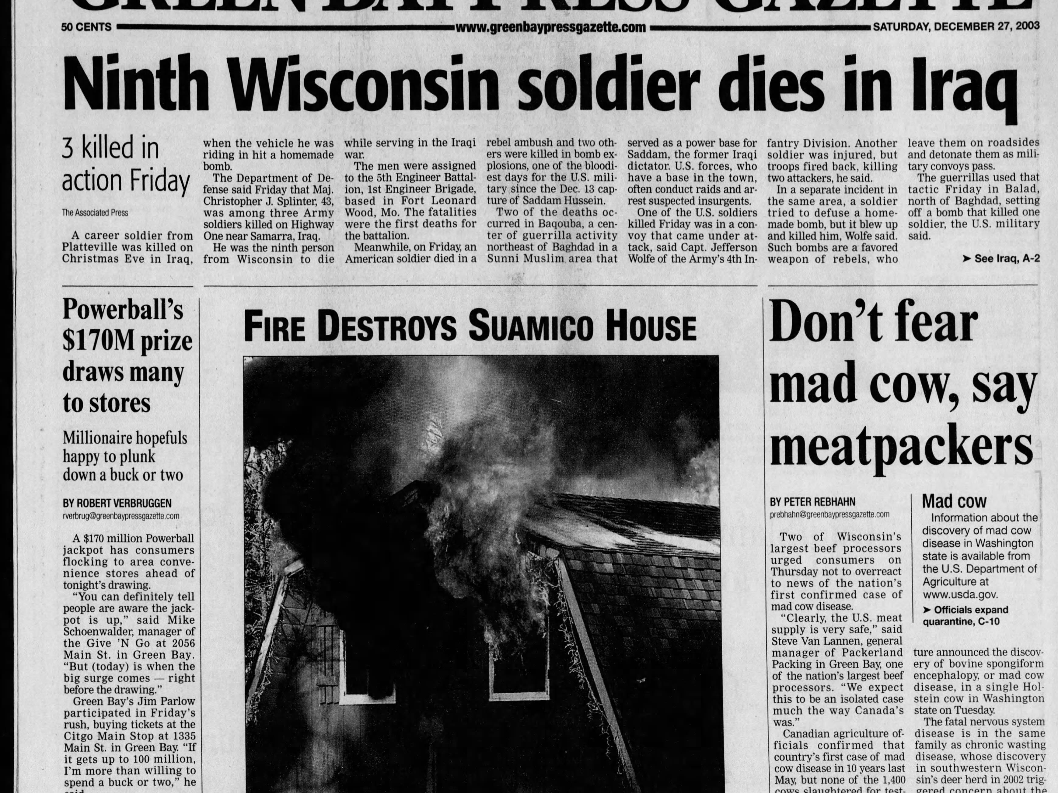 Today in History: Dec. 27, 2003