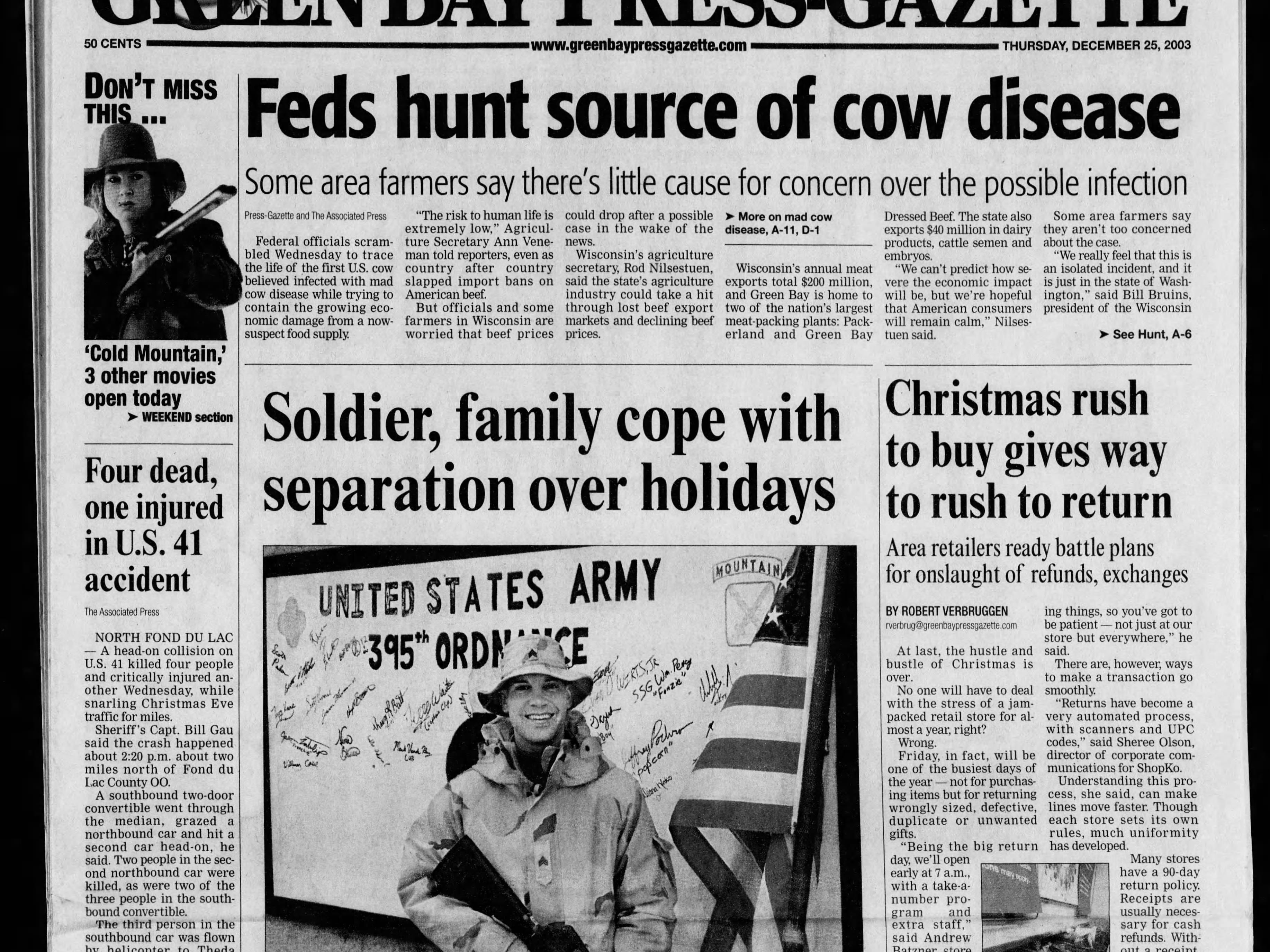 Today in History: Dec. 25, 2003
