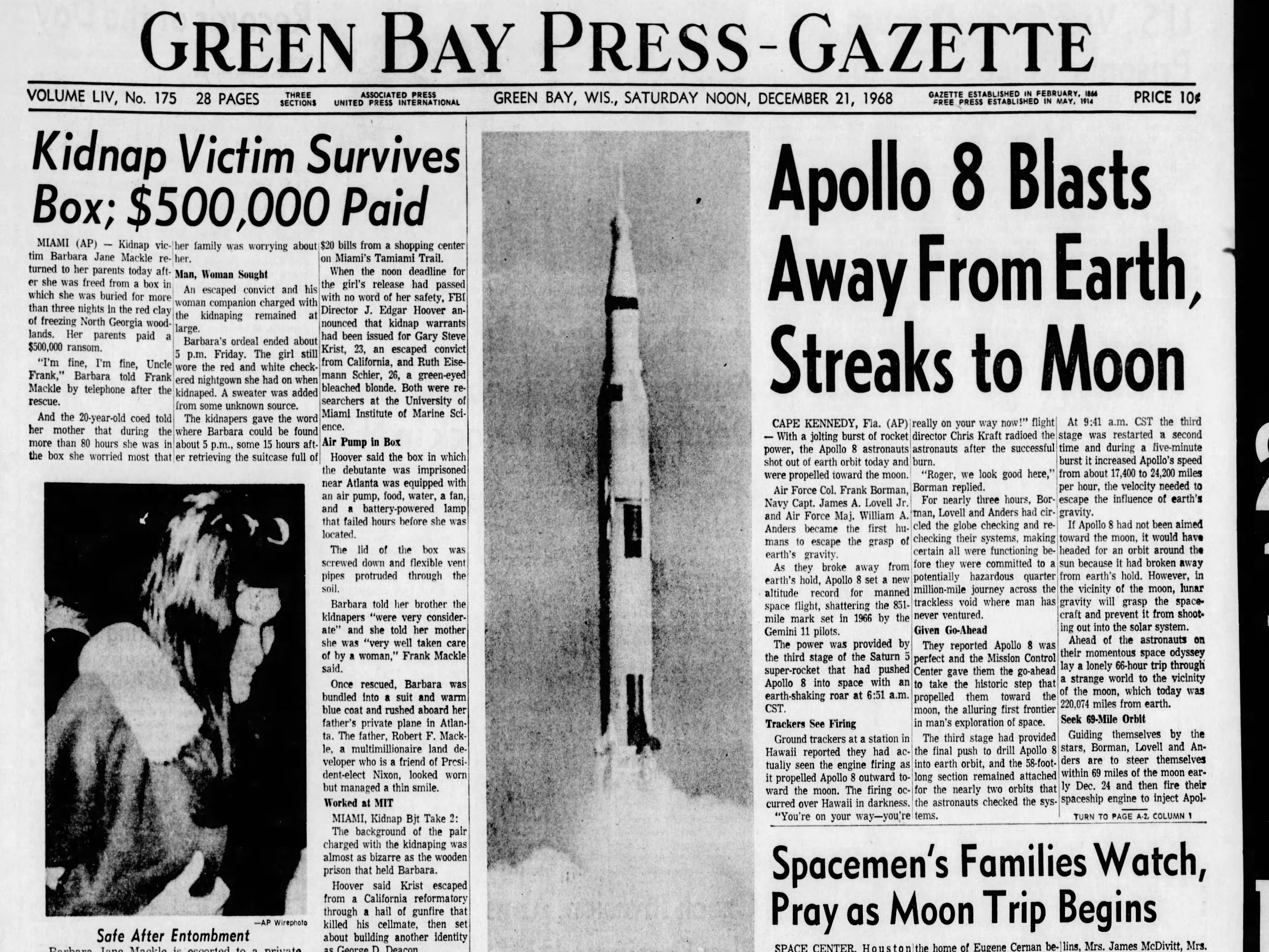 Today in History: Dec. 21, 1968