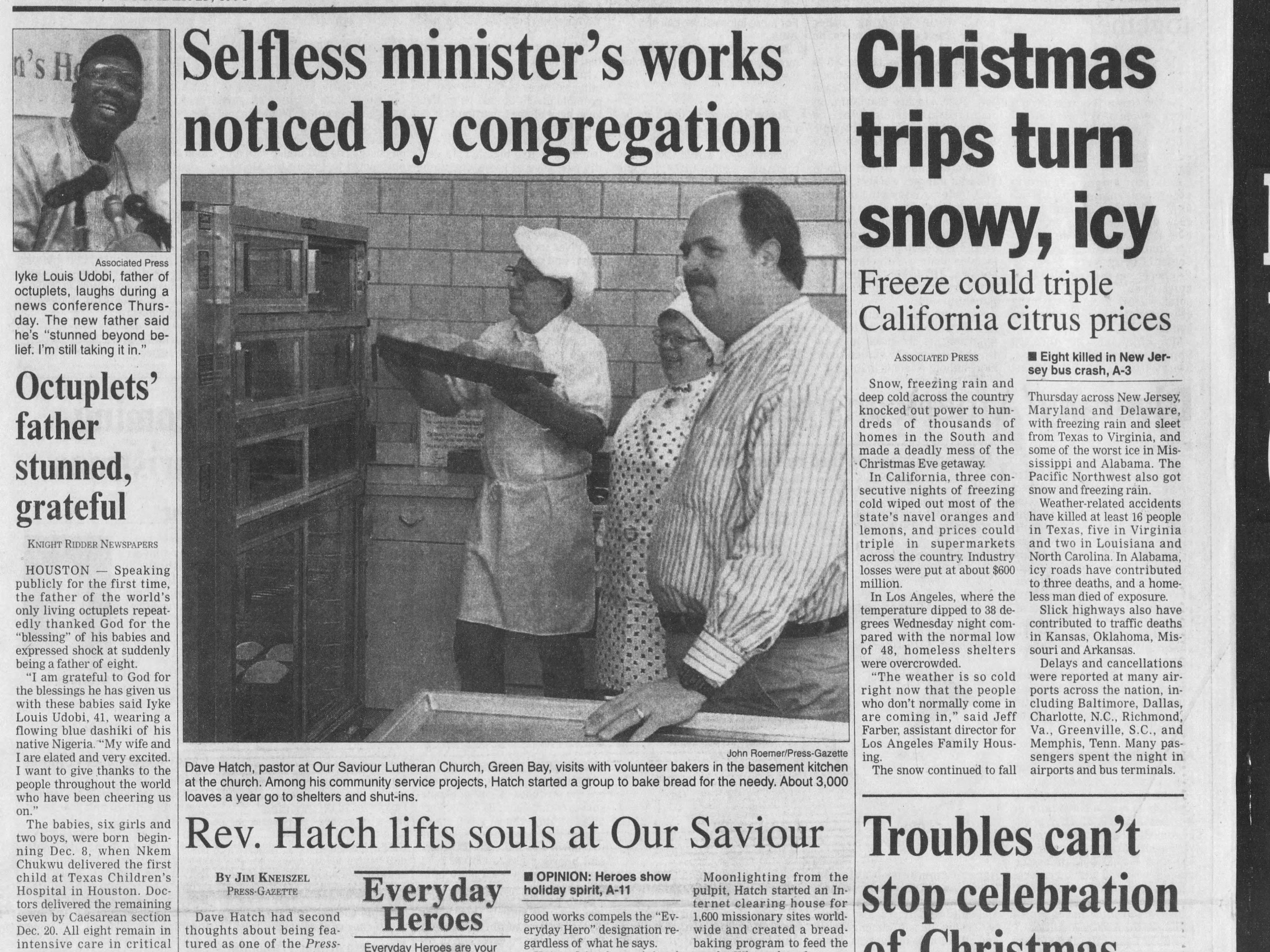 Today in History: Dec. 25, 1998