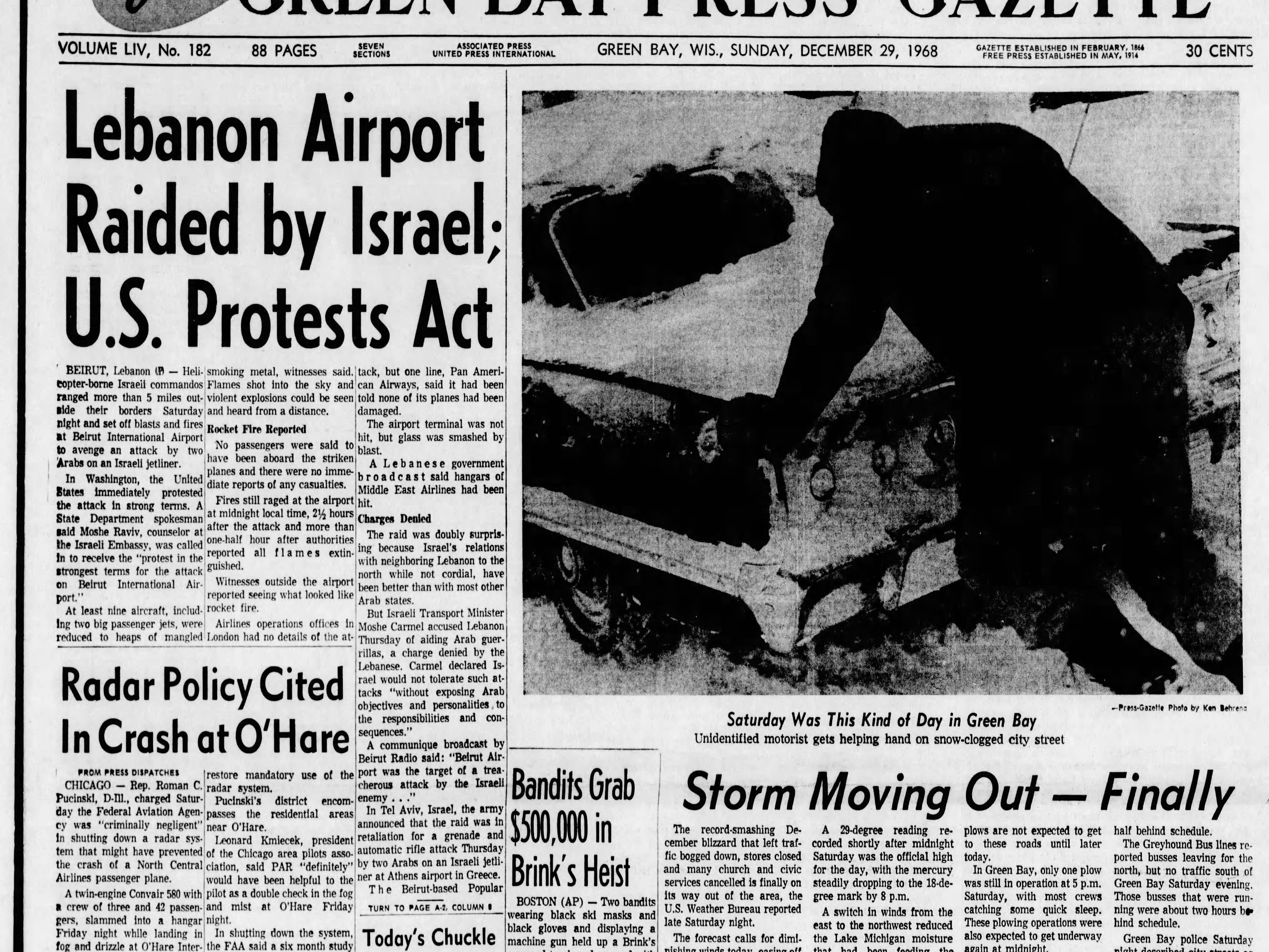 Today in History: Dec. 29, 1968
