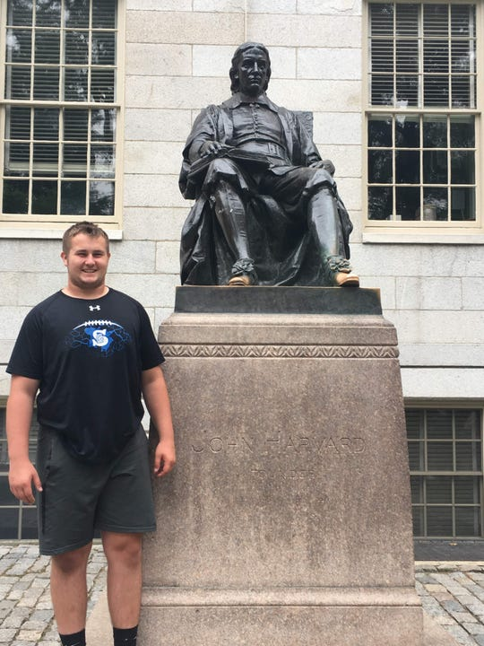 Isaac Klarkowski has visited Harvard, which is one of the Ivy League schools that has expressed the most interest in him.