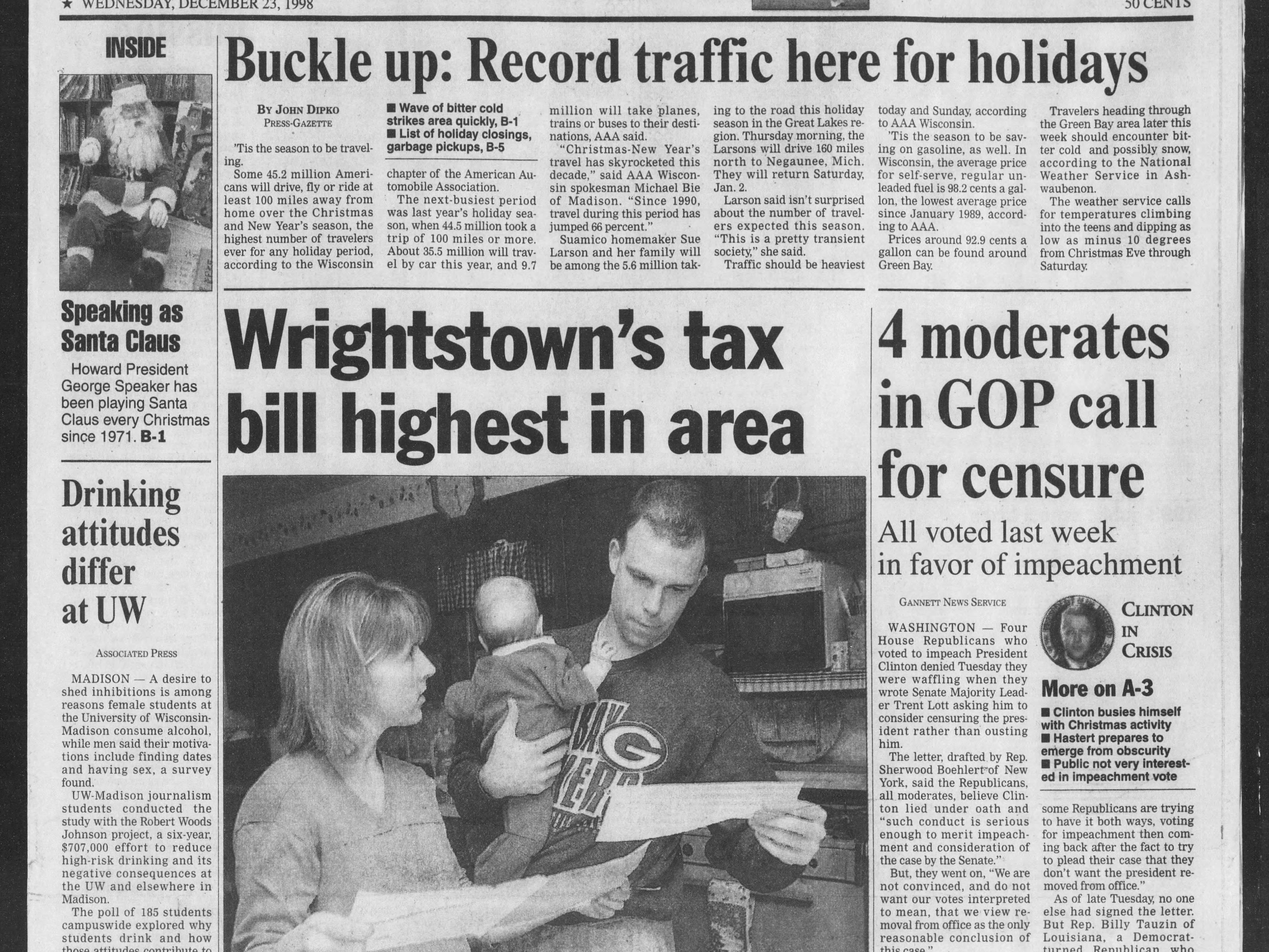 Today in History: Dec. 23, 1998