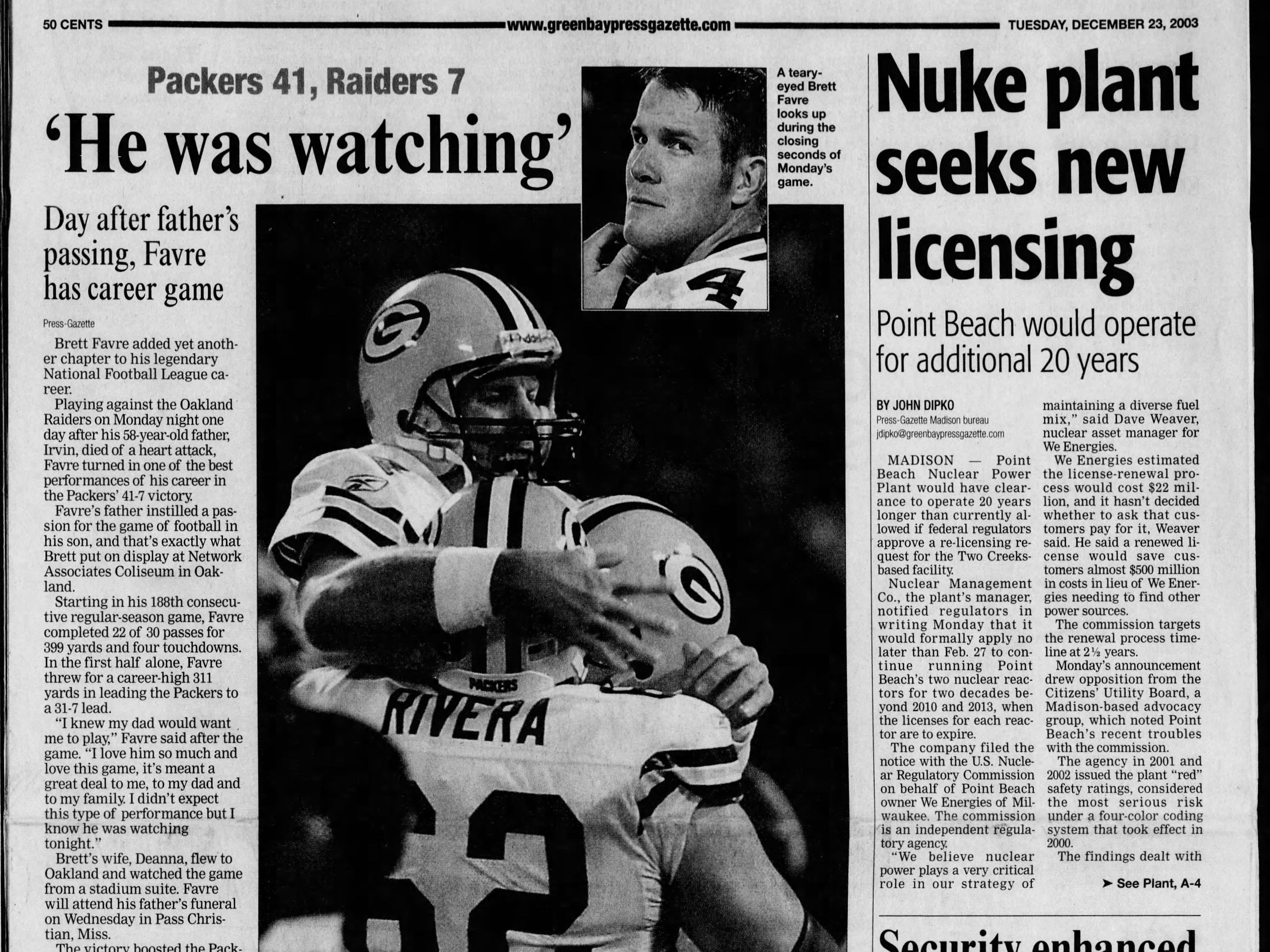 Today in History: Dec. 23, 2003
