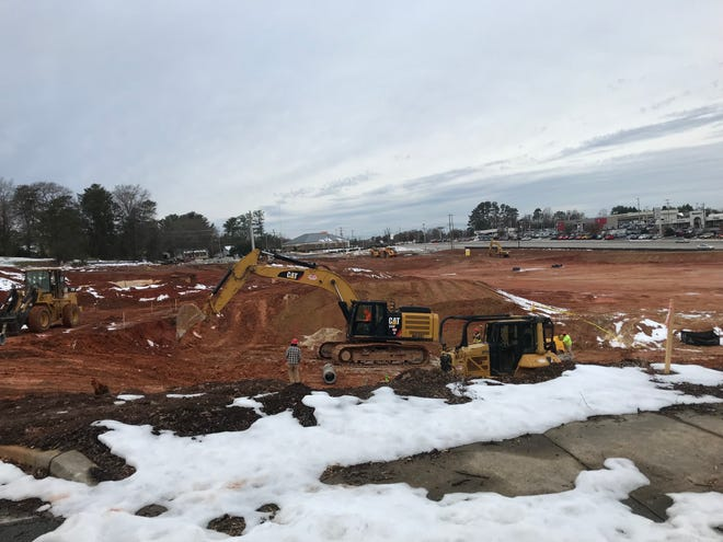 Work is underway to build an expansion of the Benson car dealership at the former site of Allen Bennett Memorial Hospital in Greer. Dec. 13, 2018